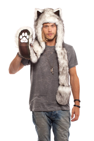 husky hat with paws