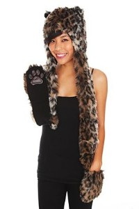 leopard hat with paws